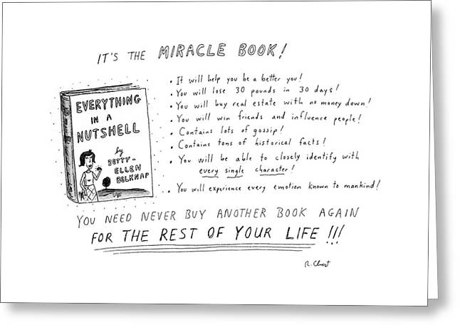 It's The Miracle Book! Greeting Card