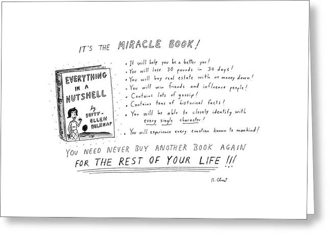 It's The Miracle Book! Greeting Card by Roz Chast