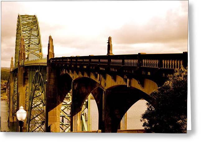 It's Water Under The Bridge 2  Greeting Card by Sheldon Blackwell