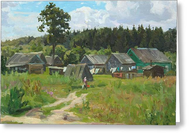 Ivankovo Village Greeting Card by Victoria Kharchenko