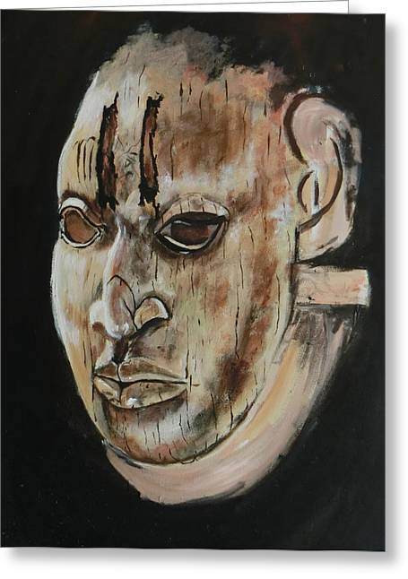 Ivory Benin Mask IIi Greeting Card by Amy Williams