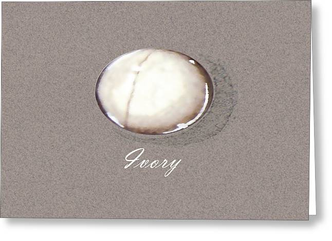 Ivory Cabochon Greeting Card by Marie Esther NC