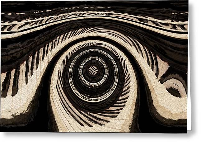 Ivory Greeting Card by Jack Zulli