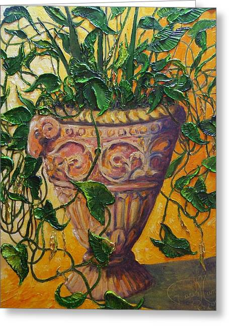 Ivy And Other Greens Greeting Card by Paris Wyatt Llanso