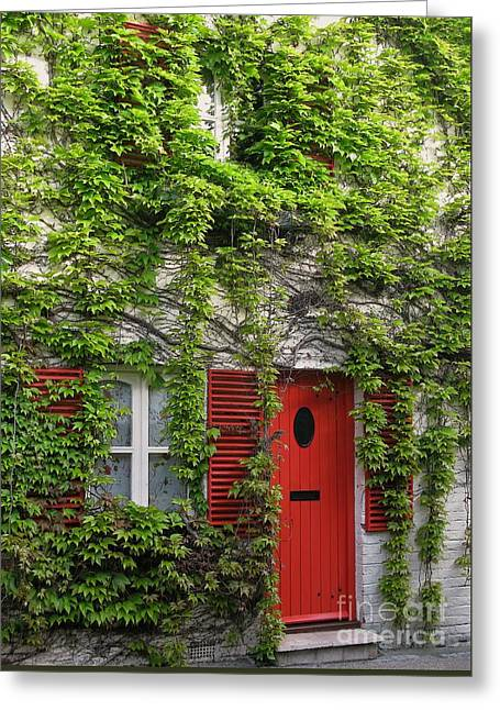Ivy Cottage Greeting Card by Ann Horn
