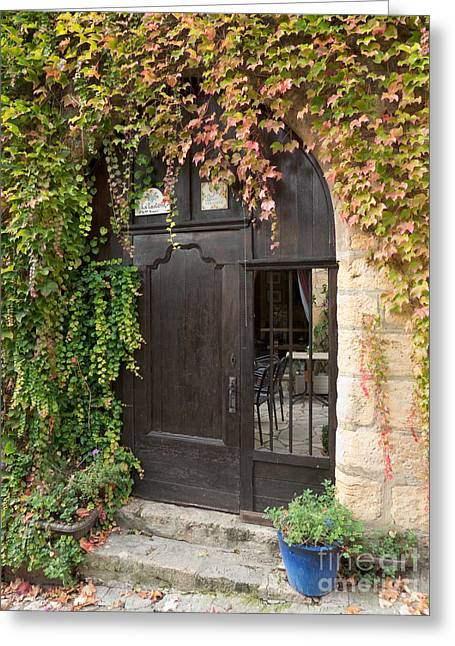 Greeting Card featuring the photograph Ivy Covered Doorway by Paul Topp