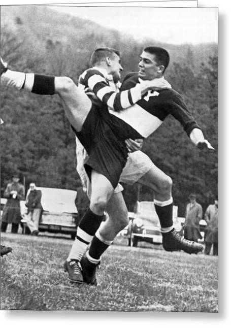 Ivy League Rugby Match Greeting Card