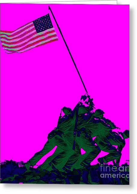 Iwo Jima 20130210 Greeting Card by Wingsdomain Art and Photography