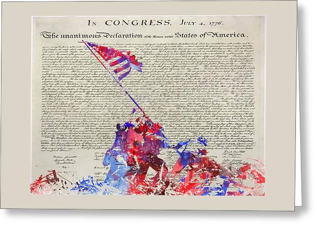 Iwo Jima Declaration Of Freedom Greeting Card