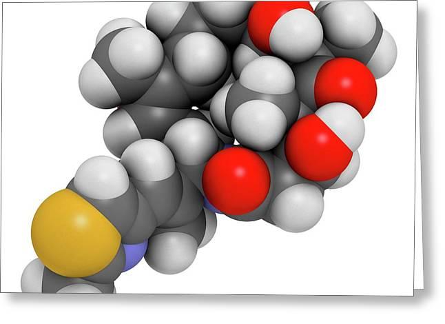 Ixabepilone Cancer Drug Greeting Card by Molekuul