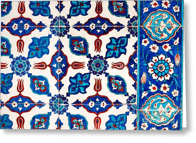 Iznik 16 Greeting Card by Rick Piper Photography