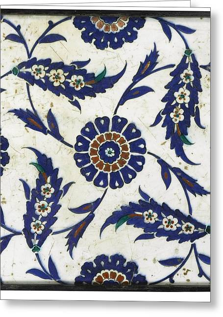Iznik Tile Greeting Card by Celestial Images