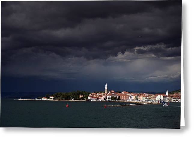 Izola In The Eye Of A Storm Greeting Card