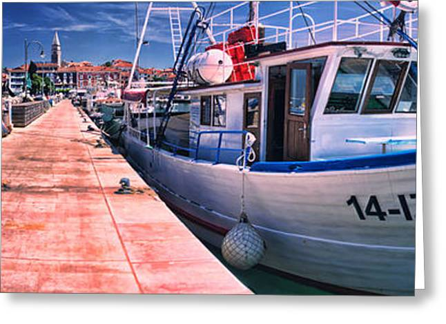 Izola Panorama Greeting Card
