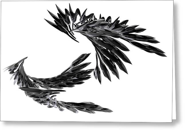 J Big   Crows Greeting Card