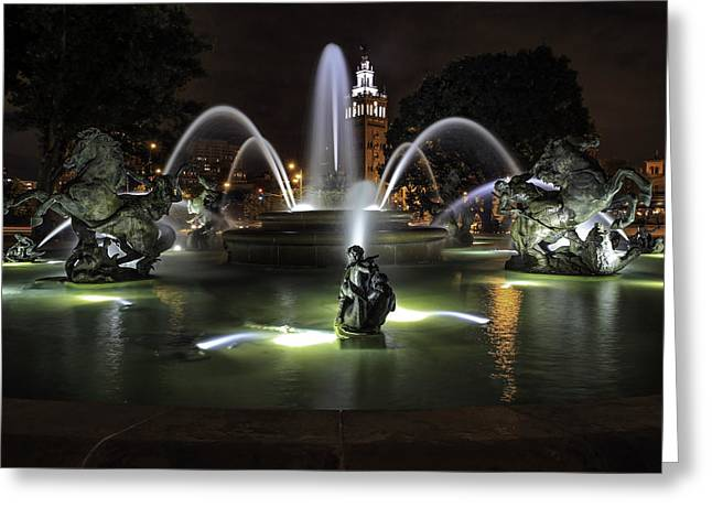 J C Nichols Fountain Greeting Card