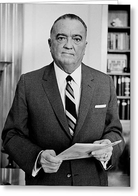 J Edgar Hoover - Director Of The Fbi 1961  Greeting Card by Mountain Dreams