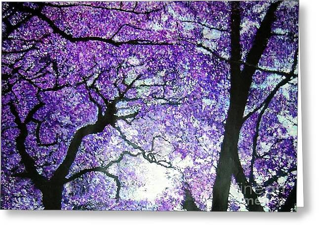 Jacarandas By The River Greeting Card