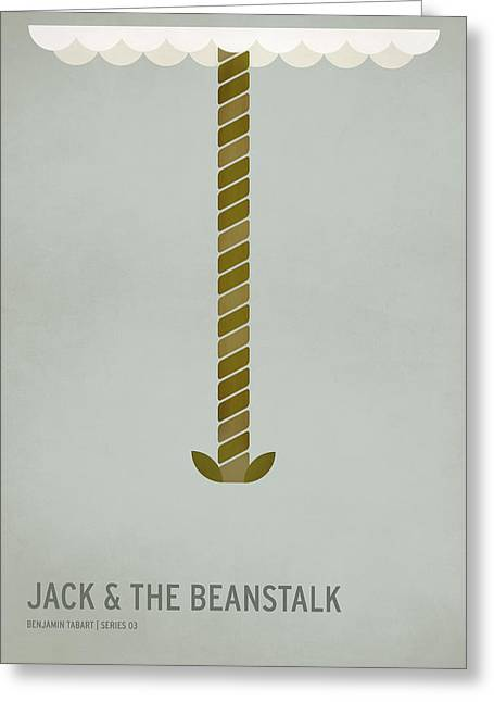 Jack And The Beanstalk Greeting Card by Christian Jackson