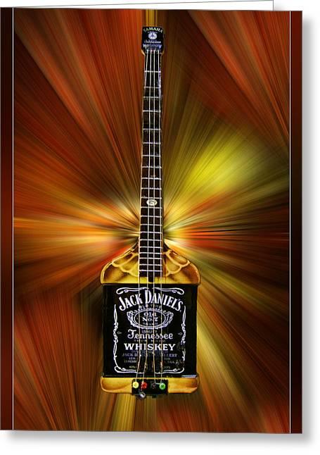 Jack Daniels Whiskey Guitar Greeting Card