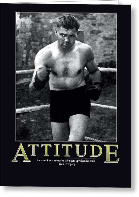 Jack Dempsey Attitude Greeting Card