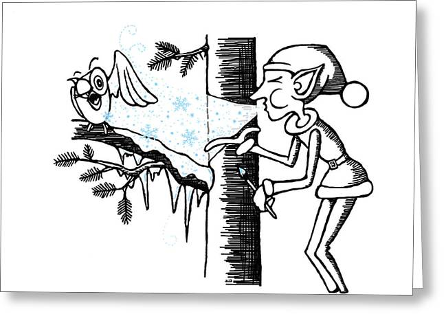 Jack Frost Holiday Card Greeting Card