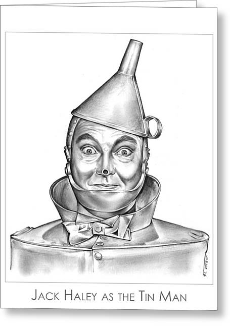 Jack Haley As The Tin Man Greeting Card