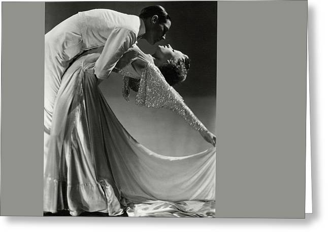 Jack Holland And June Hart Dancing Greeting Card by Horst P. Horst