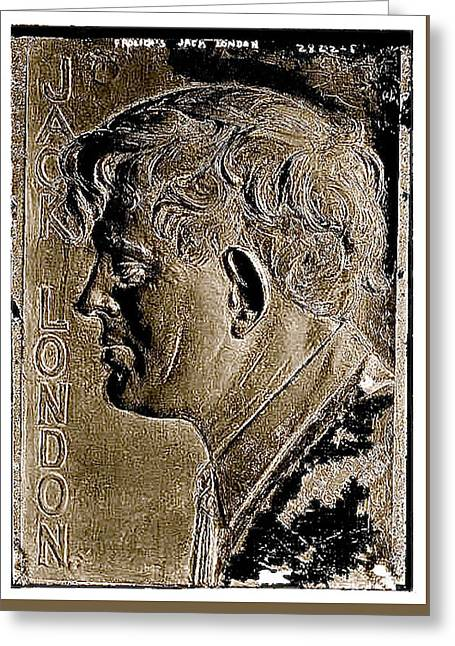 Jack London Bas Relief No Known Date-2013 Greeting Card by David Lee Guss