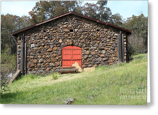 Jack London Stallion Barn 5d22101 Greeting Card by Wingsdomain Art and Photography
