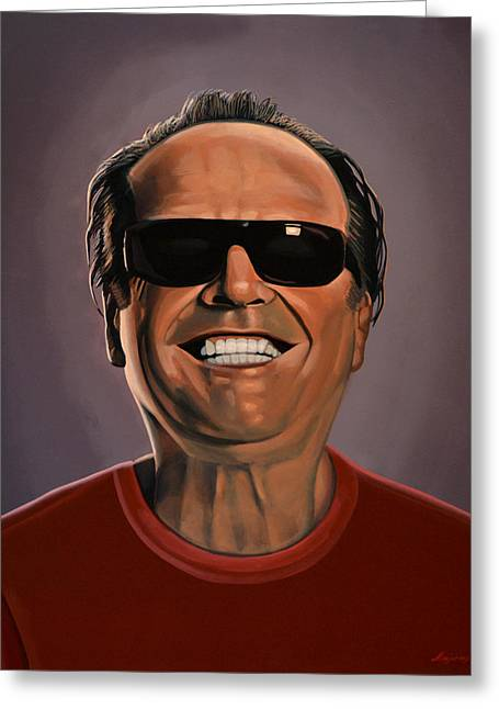 Jack Nicholson 2 Greeting Card by Paul Meijering