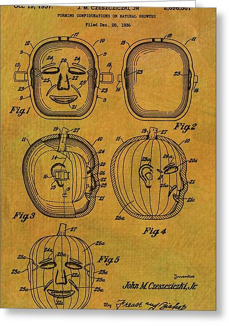 Jack O Lantern Patent Greeting Card by Dan Sproul