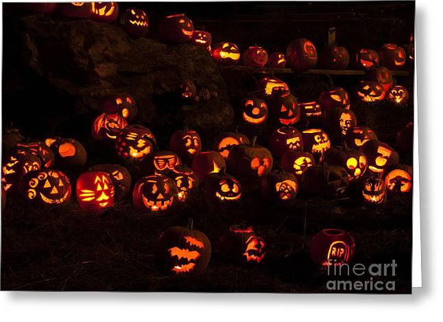 Jack-o-lanterns Greeting Card by Inge Riis McDonald