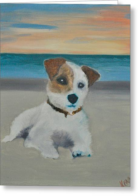 Jack On The Beach Greeting Card