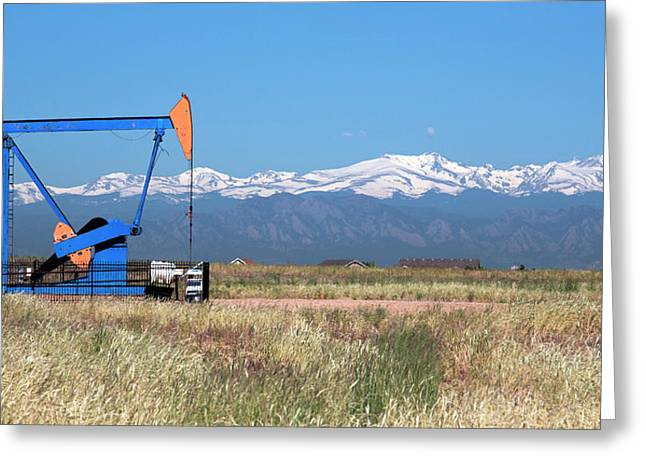 Jack Pump At An Oil Well Greeting Card by Jim West