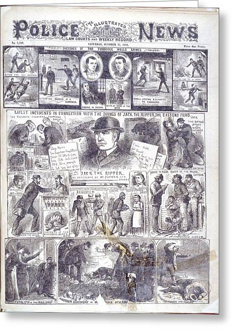 Jack The Ripper Greeting Card by British Library