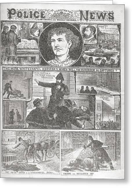 Jack The Ripper Murders, 1888 Greeting Card by British Library