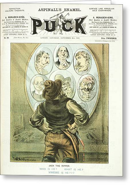 Jack The Ripper Suspects Greeting Card by British Library