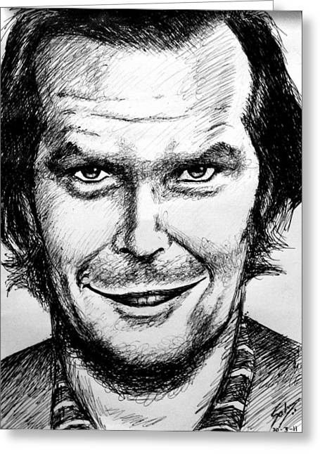 Jack Nicholson #2 Greeting Card by Salman Ravish