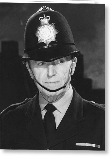Jack Warner In Dixon Of Dock Green  Greeting Card