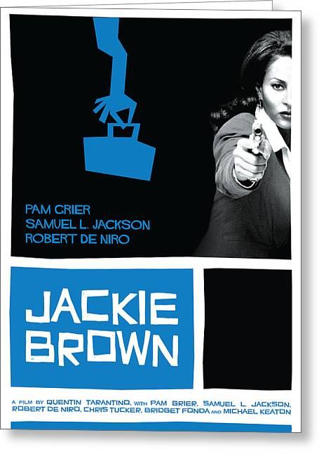Jackie Brown Poster Greeting Card
