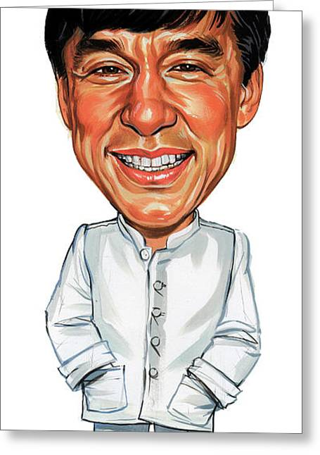 Jackie Chan Greeting Card by Art
