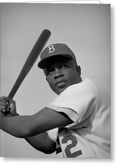 Jackie Robinson - 1954 Greeting Card by Mountain Dreams