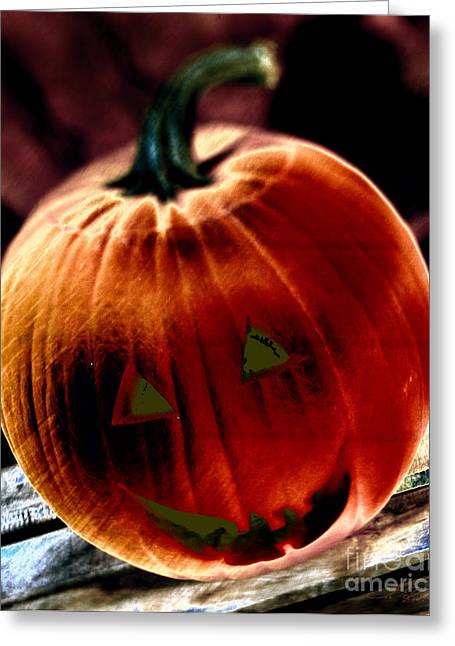 Jacko Lantern Greeting Card by Iris Richardson