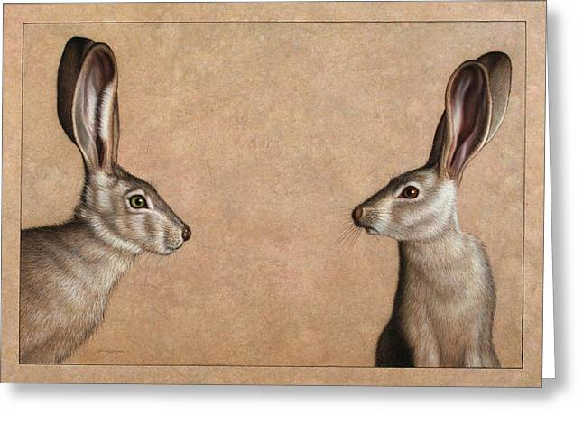 Jackrabbits Greeting Card
