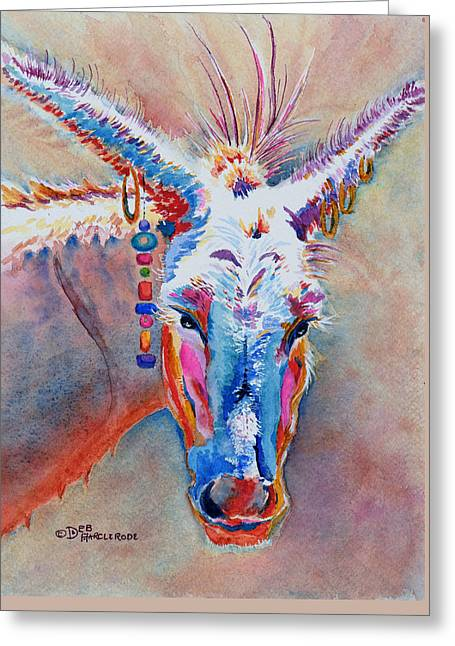 Jack's Girl - Donkey Greeting Card by Deb  Harclerode