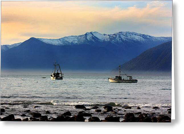 Greeting Card featuring the photograph Jackson Bay South Westland New Zealand by Amanda Stadther
