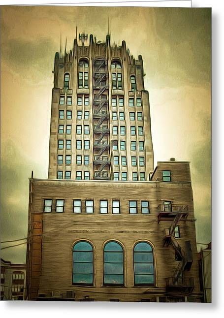 Jackson County Tower Greeting Card by MJ Olsen
