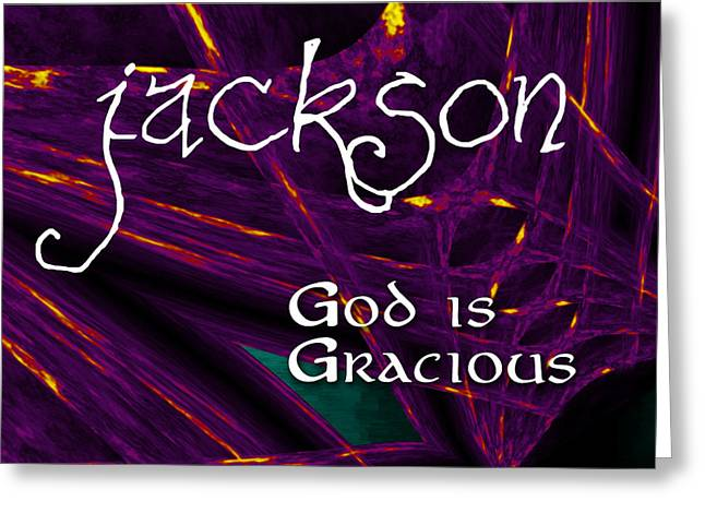 Jackson - God Is Gracious Greeting Card by Christopher Gaston