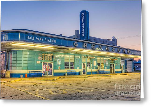 Jackson Greyhound Bus Station I Greeting Card by Clarence Holmes